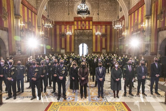 Acte d'entrega de les medalles al mèrit i a l'antiguitat de la Guàrdia Urbana del 2020.