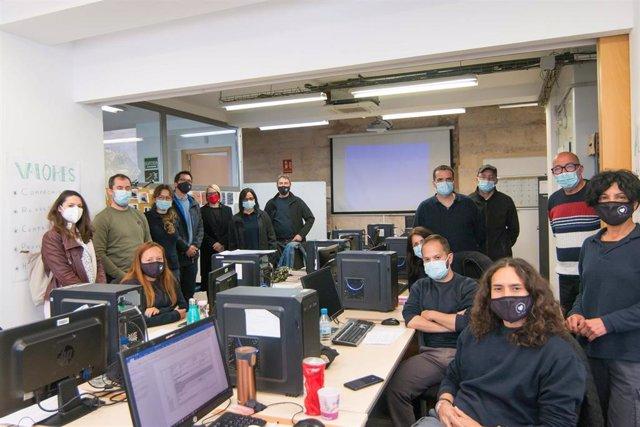 Los participantes del programa de mantenimiento microinformático del SOIB.