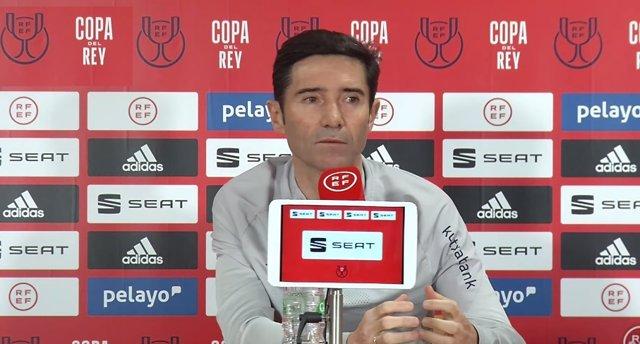 Marcelino García Toral en rueda de prensa