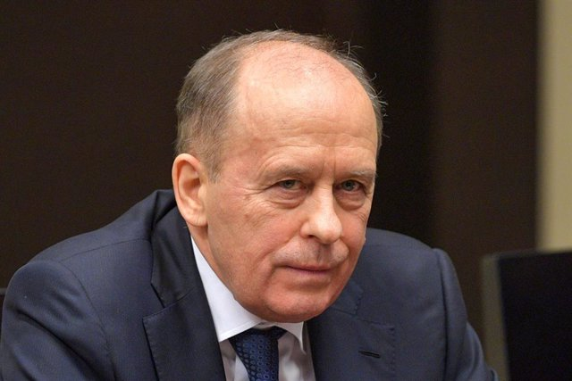 Archivo - HANDOUT - 21 February 2020, Russia, Moscow: Alexander Bortnikov, Head of the Russian Federal Security Service, attends a Security Council meeting at the Kremlin. Photo: Alexei Druzhinin/Kremlin/dpa - ATTENTION: editorial use only and only if the