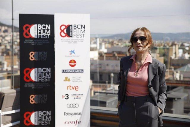 La actriz francesa Isabelle Huppert acude al BCN Film Fest