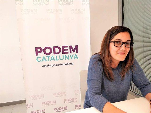 Archivo - Arxivo - La coordinadora autonòmica de Podem Catalunya, Conchi Abellán