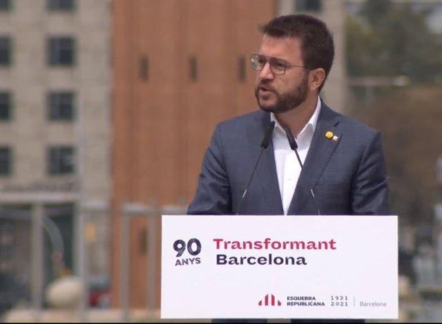 El candidat d'ERC a la Presidència de la Generalitat, Pere Aragonès