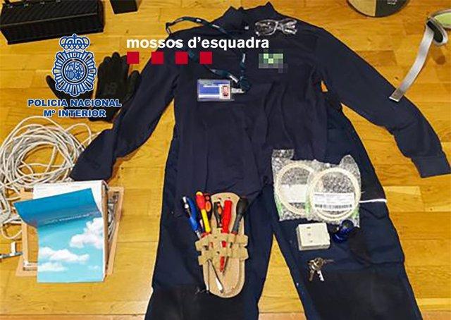 Mossos d'Esquadra i Policia Nacional desarticula a un grup que presumptament va robar a Barcelona joies valorades en 1 milió d'euros