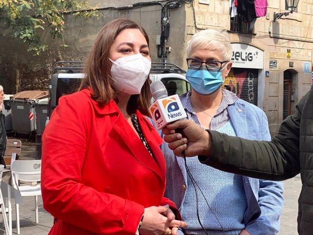 La presidenta de Cs a l'Ajuntament de Barcelona, Luz Guilarte, i la diputada de Cs al Parlament, Anna Grau.