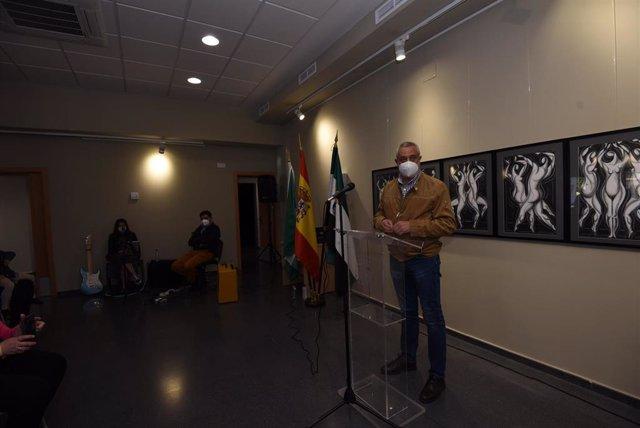 Carlos Carlos, en la inauguración del antiguo Matadero de Malpartida de Plasencia.