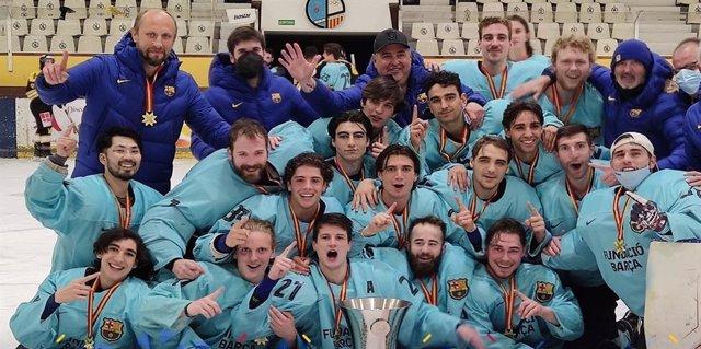 El Barça Hockey Hielo conquista la Liga 12 años después