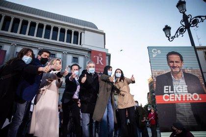 """Marín reivindica """"el proyecto de centro frente a la España de rojos y azules"""" en apoyo a campaña de Edmundo Bal"""