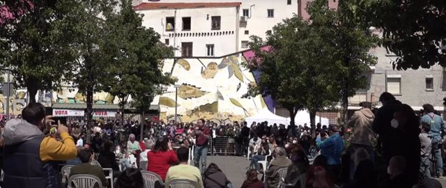 """El candidato de Unidas Podemos a la Presidencia de la Comunidad de Madrid, Pablo Iglesias, acusa a Ayuso de usar a los madrileños de """"gasolina política para incendiar España y derrocar al Gobierno"""""""