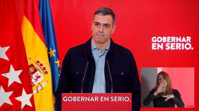 El presidente del Gobierno, Pedro Sánchez, el 11 de abril