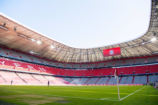 General view ahead of the German championship Bundesliga football match between Bayern Munich and Union Berlin on April 10, 2021 at Allianz Arena in Munich, Germany - Photo Florian Pohl / City-Press GmbH / Pool / firosportphoto / DPPI