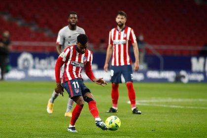 Thomas Lemar, baja del Atlético ante el Eibar por un problema muscular