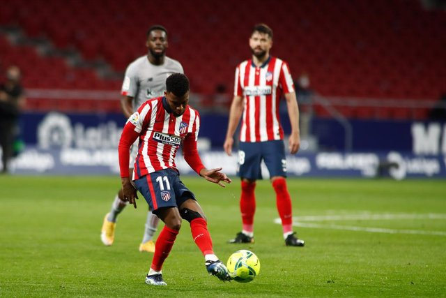 Archivo - Thomas Lemar of Atletico de Madrid in action during the spanish league, La Liga Santander, football match played between Atletico de Madrid and Athletic Club at Wanda Metropolitano stadium on March 10, 2021, in Madrid, Spain.