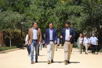 Moreno se reúne este lunes con el presidente de Murcia para firmar la declaración en defensa del trasvase Tajo-Segura