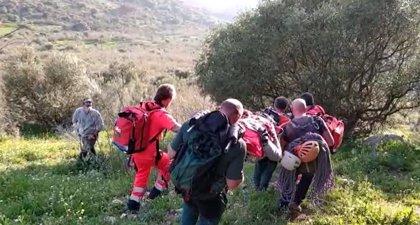 Sucesos.- Rescatan y trasladan en helicóptero al hospital a un escalador herido tras una caída en Riogordo