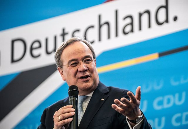 30 March 2021, Berlin: Armin Laschet, Minister President of North Rhine-Westphalia and federal chairman of the Christian Democratic Union of Germany (CDU), speaks at the kick-off event of the participation campaign for the CDU's election platform for the