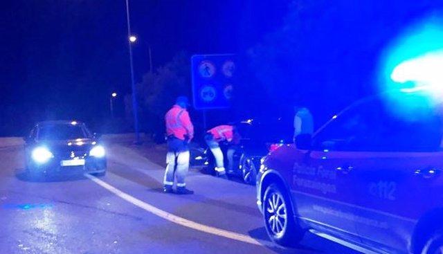 Denunciado tras adelantar a un vehículo policial a 180 km/h en la A68 en Tudela.