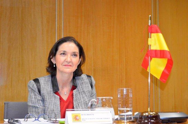 Archivo - La ministra de Industria, Comercio y Turismo, Reyes Maroto.