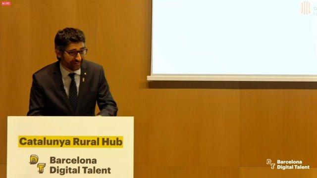 Arxiu - El conseller de Polítiques Digitals i Administració Pública de la Generalitat, Jordi Puigneró, en la presentació del Catalunya Rural Hub.