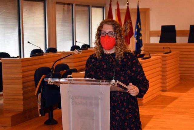La portavoz del equipo de Gobierno, Sara Martínez, en rueda de prensa.