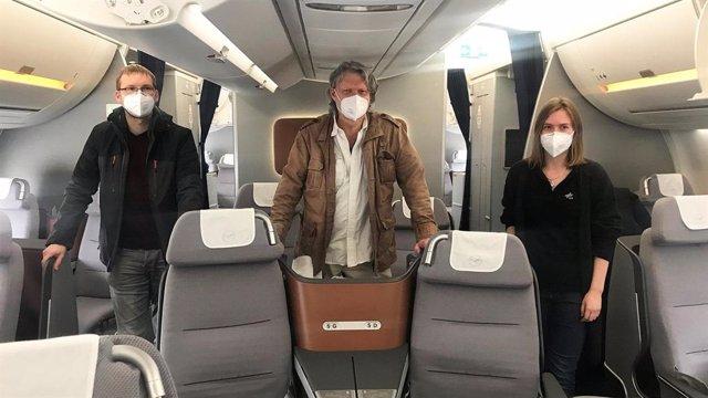 Las mediciones se tomaron en un avión de Lufthansa que voló sobre la región