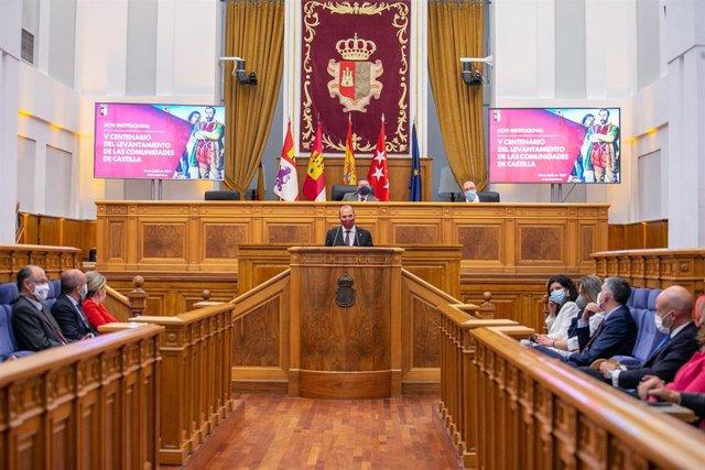 Acto conmemorativo del V Centenario del levantamiento de las Comunidades de Castilla en las Cortes de Castilla-La Mancha
