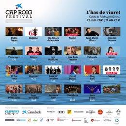 Cartel del XXI Festival de Cap Roig de Calella de Palafrugell (Girona).