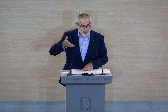 Arxiu - El líder de Cs a Catalunya, Carlos Carrizosa, al Parlament.