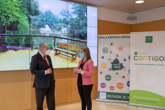 Entrevista de Villalobos y la Alcaldesa de Alcalá