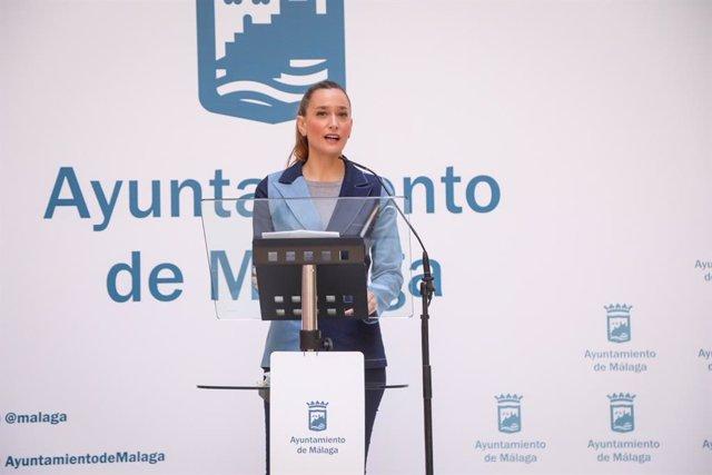 La concejala delegada de Comercio, Elisa Pérez de Siles, en rueda de prensa