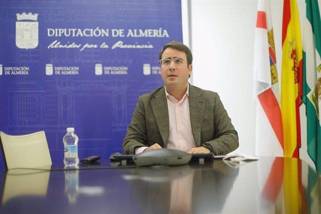 Fernando Giménez en el Consejo Provincial de Turismo celebrado hoy