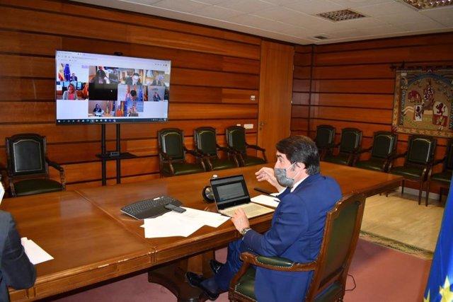 Suárez-Quiñones en un momento de la videoconferencia para celebrar el Consejo Consultivo