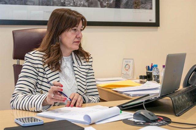 La consejera de Igualdad y Portavoz, Blanca Fernandez, participa, de forma telemática, en la Conferencia Sectorial de Igualdad