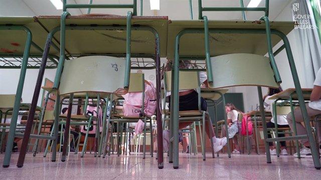 Archivo - Aula de un centro escolar.