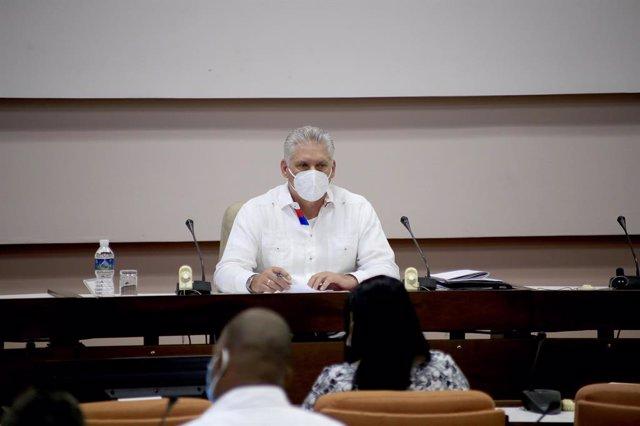 Miguel Díaz-Canel en el congrés del Partit Comunista de Cuba