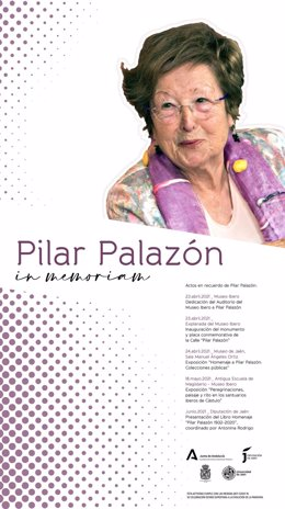 Cartel del homenaje a Pilar Palazón.