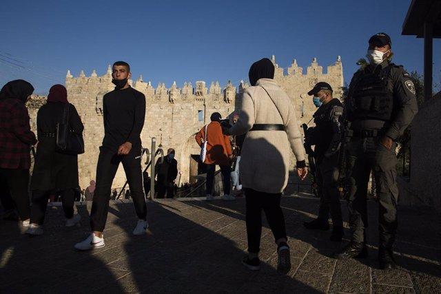 La Puerta de Damasco, en la Ciudad Vieja de Jerusalén