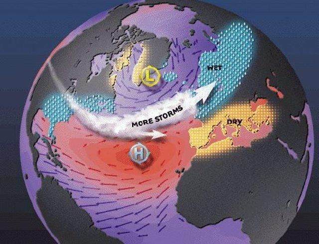 Los hallazgos sugieren que los inviernos en Europa y en el este de EE.UU pueden volverse más cálidos y húmedos.
