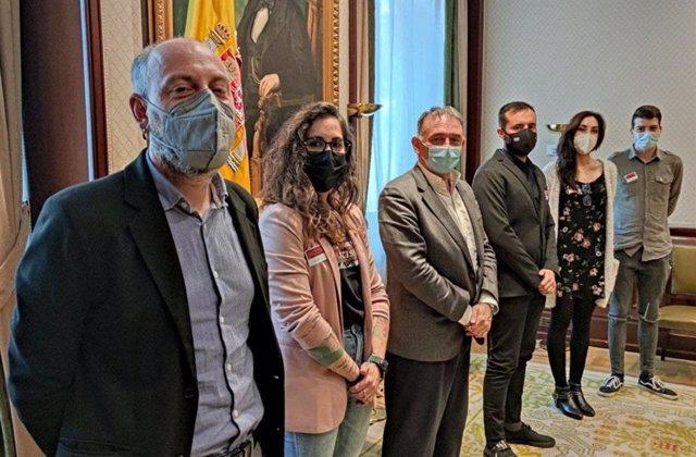 Encuentro de representantes de IU y Unidas Podemos sobre el futuro de Linares (Jaén).