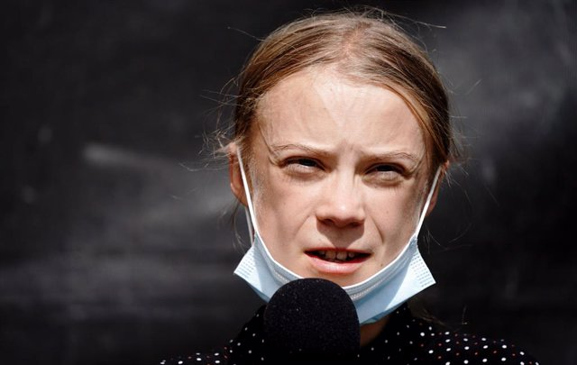 Archivo - FILED - 20 August 2020, Berlin: Swedish climate activist Greta Thunberg attends a press conference in Berlin. Thunberg has been selected to feature on a Swedish postal stamp due to go on sale on Thursday. Photo: Kay Nietfeld/dpa