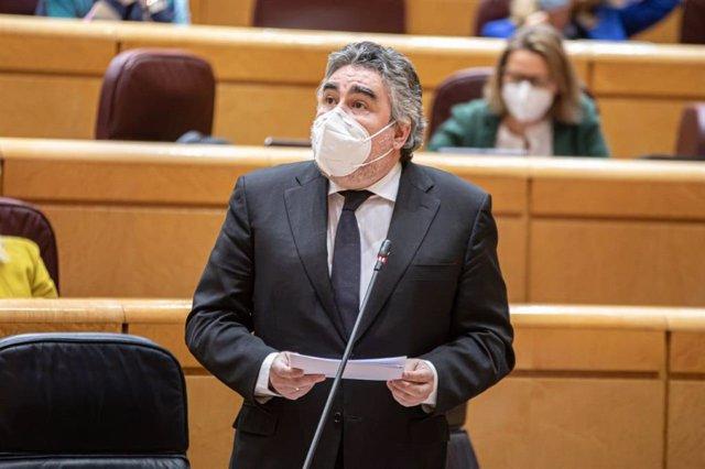 Archivo - Arxiu - El ministre de Cultura i Esport José Manuel Rodríguez Uribes en el Senat