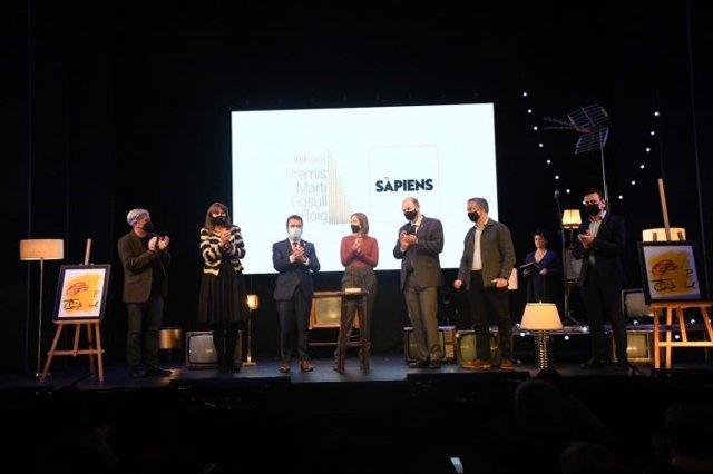 Gala d'entrega dels Premis Martí Gasull de la Plataforma per la Llengua