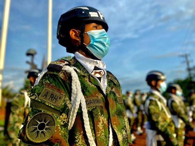 Efectivos militares de las Fuerzas Armadas de Colombia