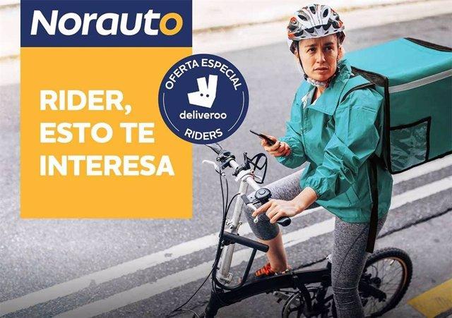 Norauto se une a Deliveroo para fomentar la movilidad sostenible