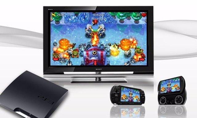 Las consolas PS3, PS Vita y PSP (de izquierda a derecha).