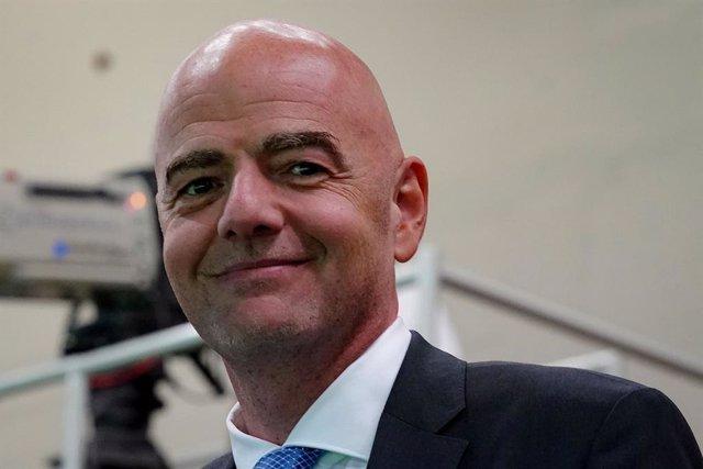 Archivo - El presidente de la FIFA, Gianni Infantino