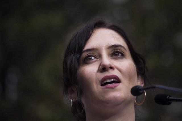 La presidenta de la Comunidad de Madrid y candidata a la reelección, Isabel Díaz Ayuso