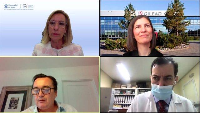 Ponentes durante la XVII Aula Virtual 'La era de las Terapias Avanzadas: una mirada hacia el futuro. Retos a corto y medio plazo'