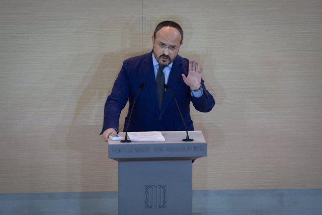 Arxiu - El president del PP català, Alejandro Fernández.