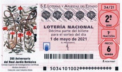 Loterías conmemora el 265 aniversario del Real Jardín Botánico con un cupón conmemorativo para el sorteo del 1 de mayo